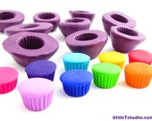 Flexible Cupcake Base Mold 10mm - Create Your Own Adorable Cupcake Jewelry!