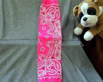 Plastic Bag Holder Sock, Highlighter Pink Print