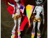 Rainbow Super Spunk Club Wear Set for MH Monster High