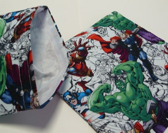 2pc Reusable Sandwich and Snack Bag New Avengers Featuring The Hulk
