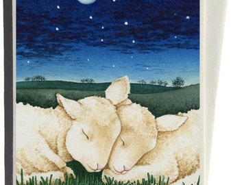 Sleeping Lambs Greeting Cards by Tracy Lizotte