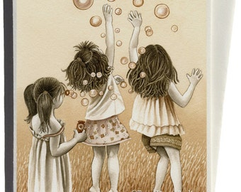 Bubbles Greeting Card by Tracy Lizotte