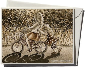 Kick Start Greeting Card by Tracy Lizotte