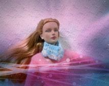 SALE 50 off Vintage Doll Scarf crochet for 16 inch / Tonner Tyler Wentworth Sydney Gene Ellowyne BJD MSD Art Doll clothes
