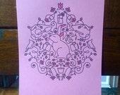 Seasonal Illustration Letterpress Prints by Haley Fischer
