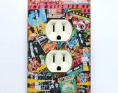 Selection of Outlet covers w/ MATCHING SCREWS- Rolling Stones poster Rolling Stones Beatles poster rock and roll wall decoration rock plates