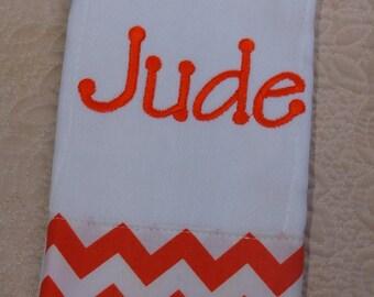 Boutique Custom Monogrammed Personalized Chevron Burp Cloth