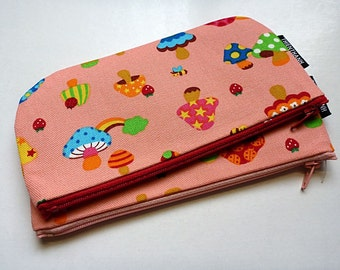 NEW LOWER PRICE - long zipper pouch - pen pouch - ready to ship - kawaii