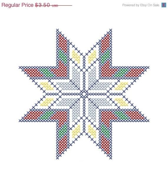 Star Quilt Embroidery Design : SALE Machine Embroidery Design INSTANT by DorannsEmbroidery