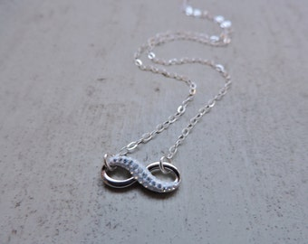 Swarovski Infinity and Sterling Silver Necklace
