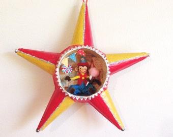 Hanging Circus Star Shadowbox Decoration/Wall Decor