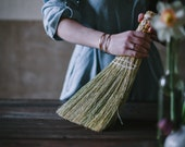 Whisk Broom in your choice of Natural, Black, Rust or Mixed Broomcorn