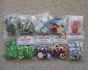 Scrapbook Embellishments: Spring Flat Back Resin Jazz-Ups from Delight