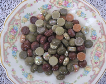 Buy 2 Get 1 Free Earth Tone Mix Glass Gems Mix Earth Tone Glass Iridized Earth Tone Mix Glass Gems Mosaics Crafts Jewelry