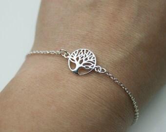 Sterling Silver Tree of Life Bracelet - Adjustable Bracelet