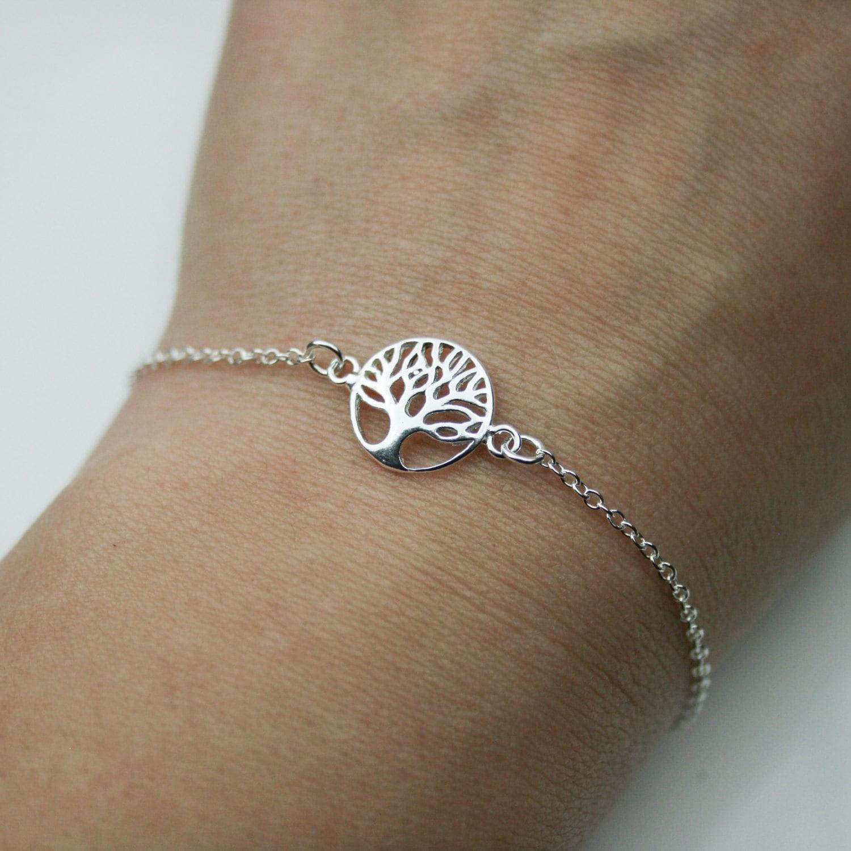 Sterling Silver Tree Of Life Bracelet Adjustable Bracelet