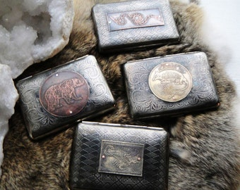 Western Animal Assorted Etched Wallet / Cigarette Case