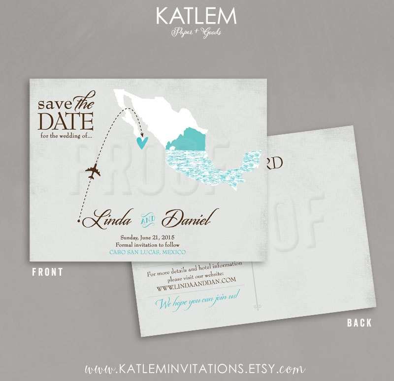 Save The Date Destination Wedding Invitations: Mexico Save The Date Destination Wedding Save The Date El