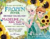 """5""""x7"""" Frozen Fever Party Invite (Digital File)"""