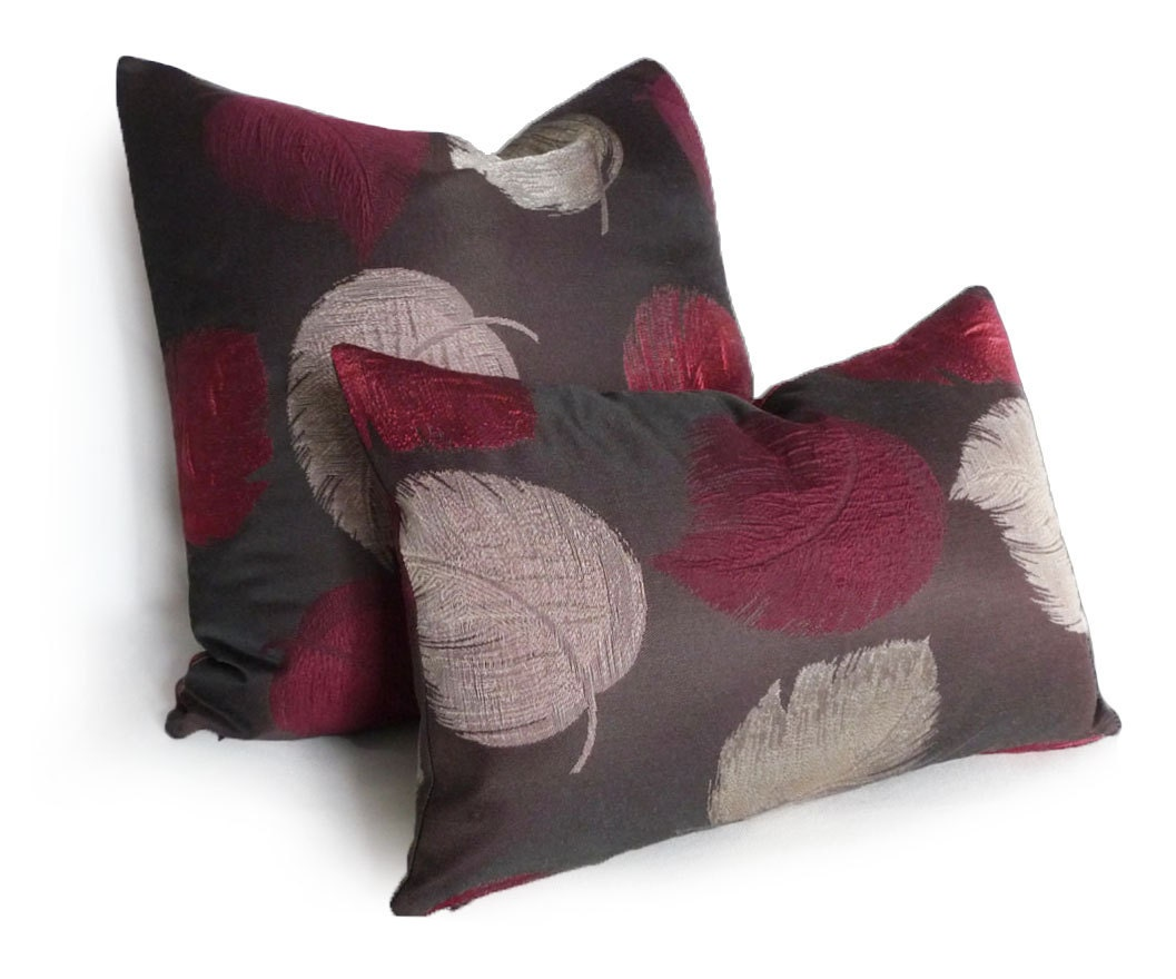 Brown Purple Pillow Covers Contemporary Lumbar Pillow Dark