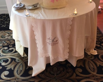 Personalized Wedding Cake Table Runner