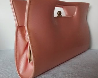 Vintage Handbag Clutch, Pretty in Peach, Vintage, Sculptural Clutch, Handbag