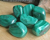 Malachite Tumbled Stone // Healing Crystals and Stones // Heart Chakra // Tumbled Stones // Wicca Crystals // Rocks and Minerals // Boho
