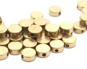 50 Raw Brass Circle Industrial Spacer Bead, Findings ( 6x2.5 Mm) Hole Size 1.4 Mm Bs-1329