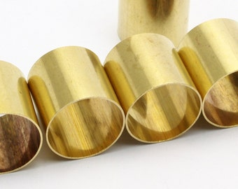 6 Raw Brass Tubes (20x20mm) Bs 1492