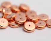 Vintage Copper Lucite Spacer Rondelle Beads 14mm (14)