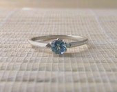 London Blue Topaz Solitaire Ring Sterling Silver Made To Order
