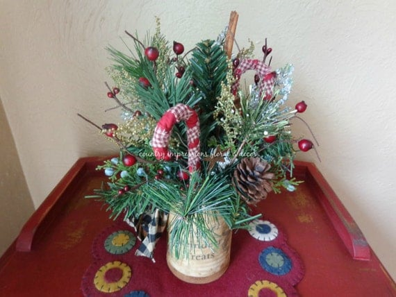 "Christmas themed ""Reindeer Treats"" floral decoration"
