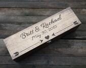 Wine Box, Wedding Wine box, love letter ceremony box, first fight box, custom wine box, memory box, wedding gift, anniversary gift, arrows