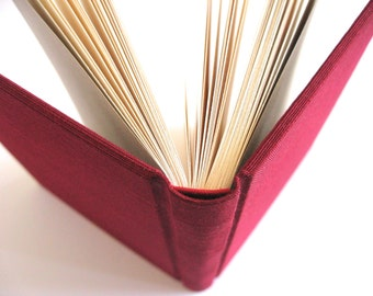 Red Silk Pocket Sized Blank Journal