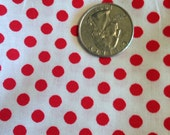 Red and white polka-dot fabric