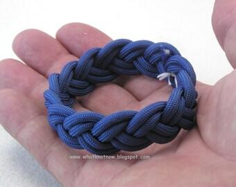 blue paracord rope bracelet classic three part turks head knot bracelet nautical sailor bracelet rope jewelry 3626