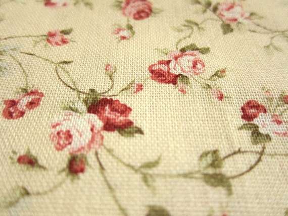 FREE SHIPPING Japanese Cotton Fabric - Floral Dream on Pale Yellow - Fat Quarter