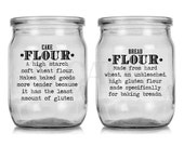 Pantry Set Kitchen canister labels flour sugar nuts vinyl self adhesive decal stickers - great wedding gift