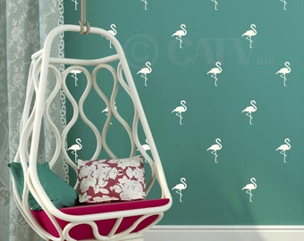 Flamingo wall pattern decals set of 20 (You Choose COLOR) vinyl wall art stickers nursery decor