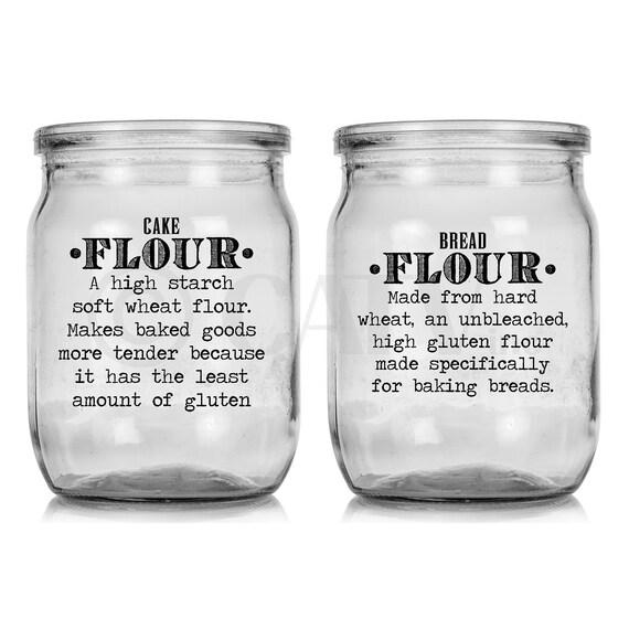 pantry set kitchen canister labels flour sugar nuts vinyl self