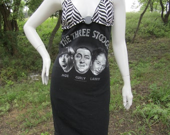 Three Stooges t shirt bikini dress