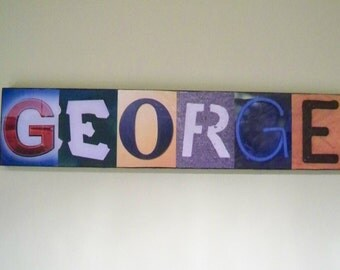 Custom-Made Picture Letters Name Signs, Unique Gift