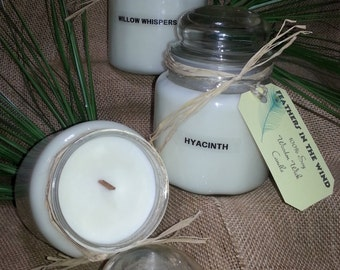 100% soy wooden wick candle choice of scent 18oz