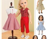 DOLL CLOTHES PATTERN / Fifties Vintage Style Outfits / Fits American Girl Kit - Molly