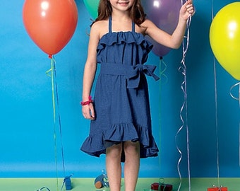 GIRLS DRESS PATTERN / Fancy Dresses - Sundress / Sizes 2 to 5 Or 6 to 8