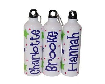 Personalized Aluminum Water Bottle - 25 fl.oz - Stars