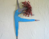 Dance Art Ballerina metal wall art turquoise redhead dancer female recycled metal dance studio decor custom orders vibrant colored dance art