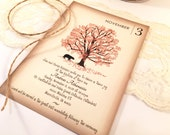 Bear under the Tree Baptism Invitation and Envelopes, Burnt orange, Brown, Black Bear, Boys Baptism, Girls, Invitations Baby Shower Invite