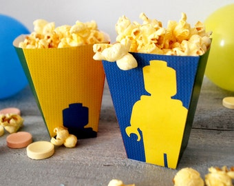 Instant Download Lego popcorn and candy boxes cut and fold yourself