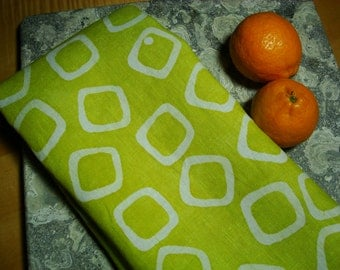 Green Dish Towel, Green Kitchen Towel, Organic Linen Towel Chartreuse Green Modern Kitchen Decor